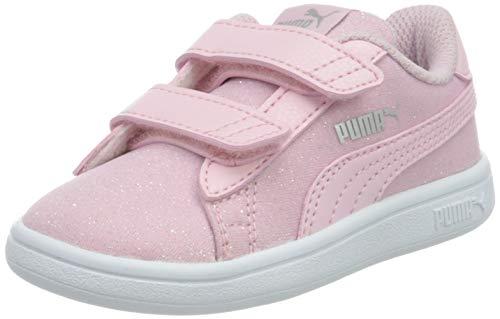 PUMA Baby-Mädchen Smash V2 Glitz Glam V INF Sneaker, Pink Lady-Pink Lady, 25 EU