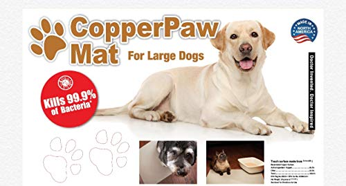 CopperPaw Mat - Large - Pet Mat Stops Dirty Paws - Real Copper Antibacterial/Antimicrobial Floor Mat Starts Killing 99.9% of Bacteria ON Contact - 100% Recyclable -Pet Floor Mat -Dog Rug -Entryway Rug