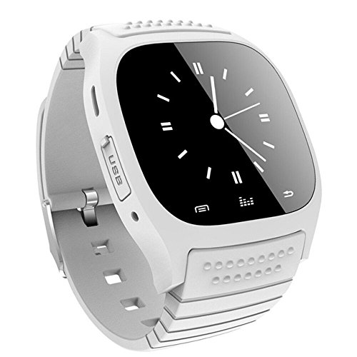 M26 Bluetooth pantalla táctil reloj inteligente – Moda Ocio Impermeable para Android/IOS Samsung iPhone HTC, Blanco