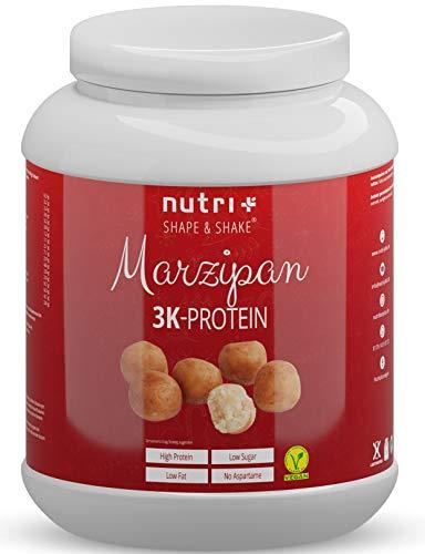 VEGANES PROTEIN Marzipan 1kg - 81,1% Eiweiß - 3k-Proteinpulver Winter - laktosefreies Eiweißpulver Low Sugar - Nutri-Plus Shape & Shake
