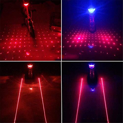 DSJMUY Fanalino Posteriore per Bici Moto Fari Posteriori per Bici LED Bright a Facilmente Installabile Sicurezza in Bicicletta, Luci Parallele e Luci Stellari, 2 Pezzi(Red)