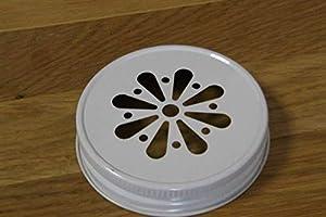 4 x Blumendeckel Weiß – für Ball Mason Glas