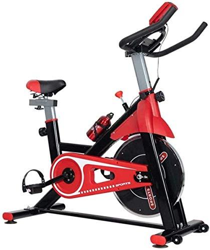 Bicicleta giratoria interior bicicleta estática vertical Fitness Bike se puede utilizar para interior Home Gym carga 120KG rojo amarillo máquina de ejercicio