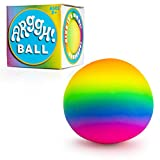 Power Your Fun Arggh Rainbow Giant Stress Ball for Adults and Kids, 5-Inch Jumbo Squishy Stress Relief Ball Fidget Toy, Anti Stress Sensory Ball Squeeze Toy for Boys and Girls (Rainbow)