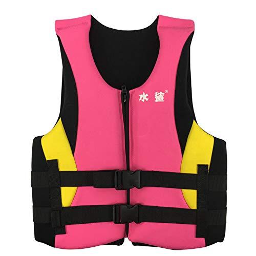 SXZSB Chaleco Salvavidas Al Aire Libre para Adultos,Unisex Kayak Esquí Flotabilidad Pesca Deportes Acuáticos Seguridad Chaleco Salvavidas Chaleco,Rosado,XL