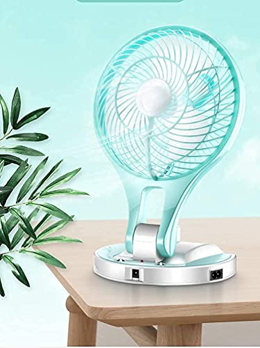 Rellon Rechargeable Portable Folding High 5 Speed Table Fan...