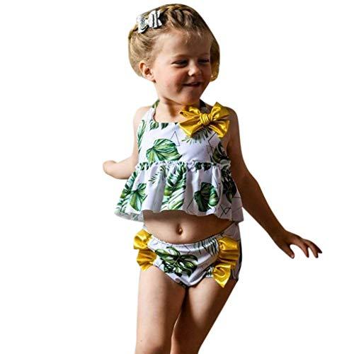Kinder Meisje Zwemkleding, HROIJSL Zwemkleding Watermeloen Gedrukt Bikini Badpak Beach Outfits Set Eendelig Badjurk + Haarband Set