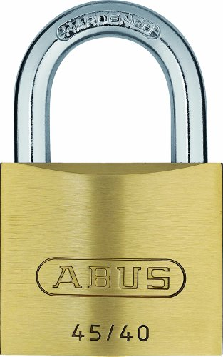 ABUS Vorhängeschloss 45/40 aus Messing - 4er Set - mit Präzisions-Stiftzylinder mit Pilzkopfstiften - 11826 - Level 4 - Messingfarben
