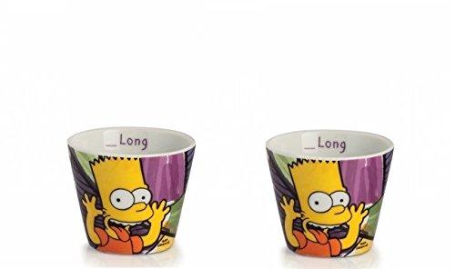 Egan PTS83/2VI Vasos de café, modelo Bart, porcelana, multicolor, 2 unidades