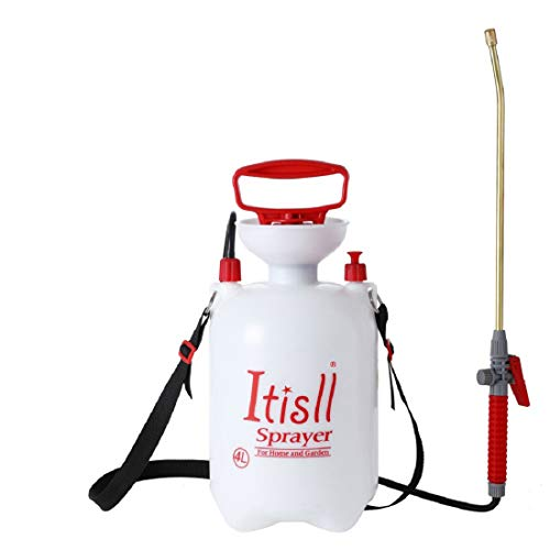 Best weed sprayer - ITISLL Portable Garden Pump Sprayer Brass Wand Shoulder Strap for Yard Lawn Weeds Plants 1Gal