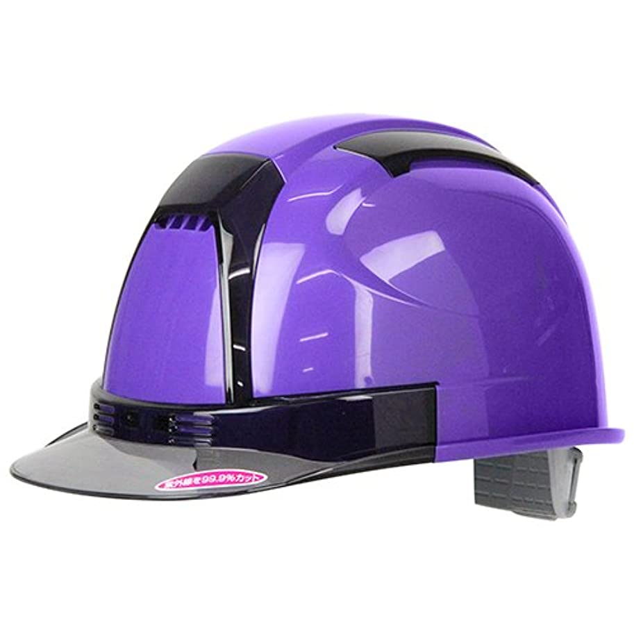不平を言う種類性別TOYO 通気孔付きヘルメット ヴェンティー Venti No.390F-OTSS 紫 高機能