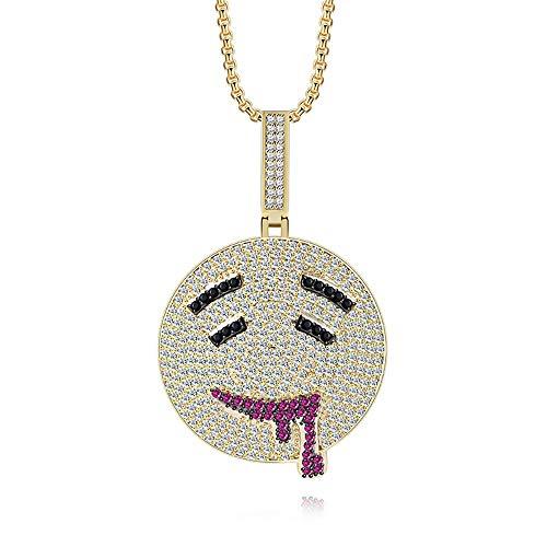 Modow Hip Hop Gouden Glutton Hanger met 24in Ketting Trui, 14K Goud verguld & AAA Zirkoon Inlaid