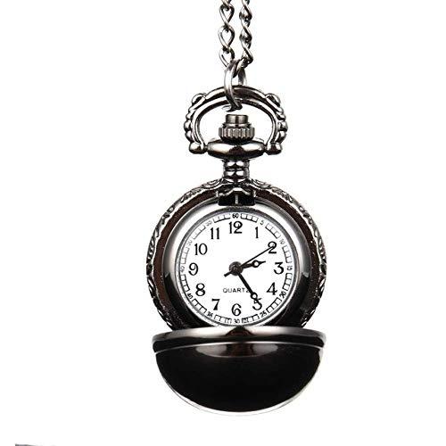 CAIDAI&YL Elegante reloj de bolsillo de cuarzo con collar de suéter joyas de cadena, como se muestra