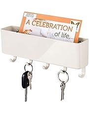 mDesign - Sleutelrek - sleutelorganizer/sleutelhouder - met plastic postbakje/modern/wandmodel