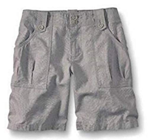 Eddie Bauer Shorts aus Leinen Damen Grau Gr. 6 (36)