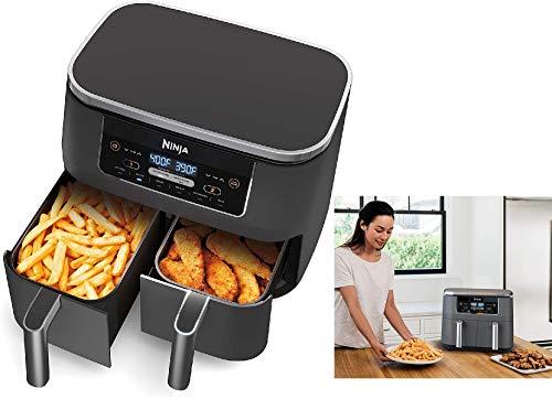Ninja DZ100 Foodi 4-in-1, 8-qt., 2-Basket Air Fryer with DualZone Technology (Renewed) …