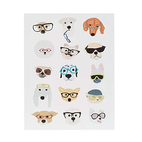 Intelligent Design Hip Dog Canvas Wall Art 14X18, Novelty Casual Wall Décor, ID95B-0032