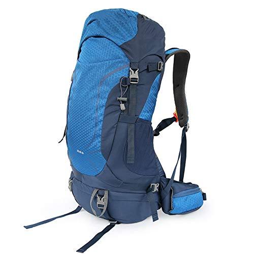 C/H Mochila de senderismo para mujer, 50 l, impermeable, con cubierta para lluvia, para viajes, montañismo, escalada, senderismo