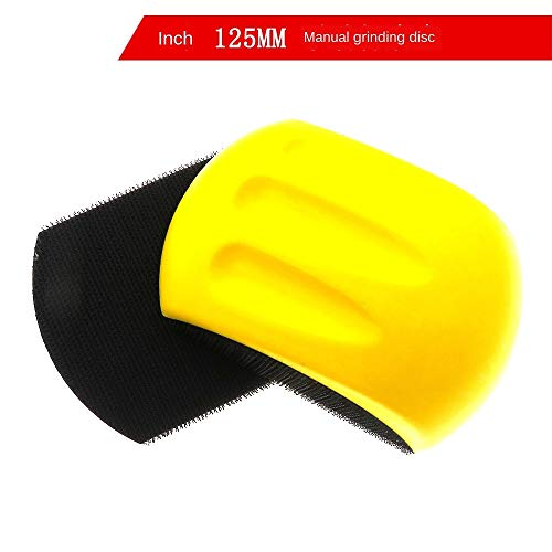 Best Prices! Xucus 5 inch 125mm hand support yellow foam PU manual polishing disc back flock flockin...