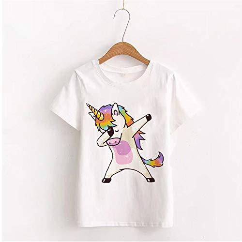 ZHOUBIANREN Vrouw T-Shirt, Zomer Mode Mooie Konijn Tshirt Koreaanse Stijl Tops O-Hals Gedrukt T-Shirt Katoen Witte Kleding Vrouwen
