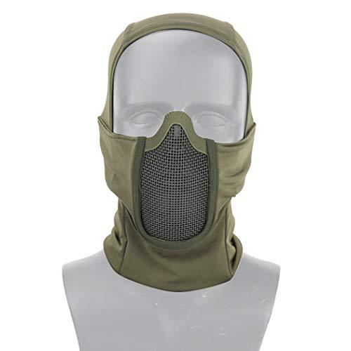 Aoutacc Balaclava Airsoft Mesh Masker, Ninja Stijl Volledige Gezicht Bescherming Balaclava Hood met Mesh Masker voor Cs War Game, BB Gun, Jacht, Paintball