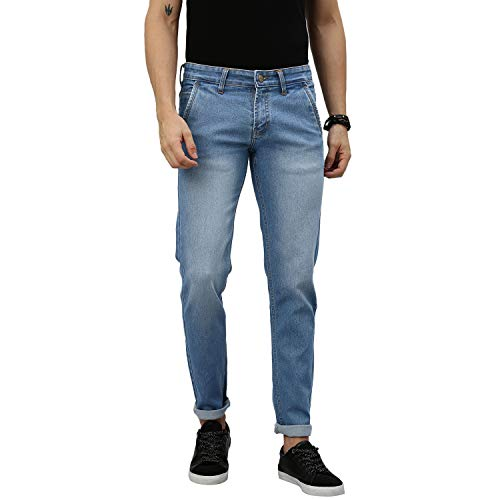 Urbano Fashion Men's Slim Fit Jeans (epsrustsprcrs-lblue-34_Light Blue_34)