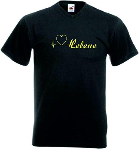 T-Shirt Damen Motiv-123 Größe M Farbe Schwarz/Gelb