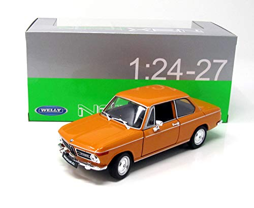 BMW 2002 Ti, orange, 1968, Modellauto, Fertigmodell, Welly 1:24