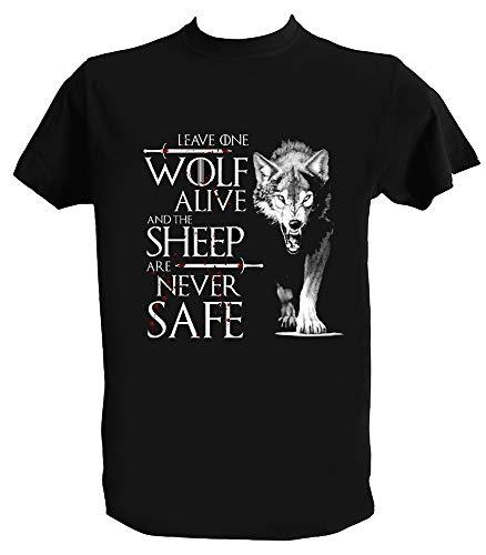 Desconocido Camiseta Stark Juego de Tronos Hombre Niño Leave One Wolf Alive Arya Stark Serie TV, Niños 1-2 Años