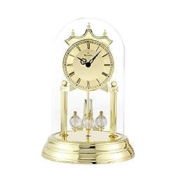 Bulova B8818 Tristan I Clock, Brass Finish