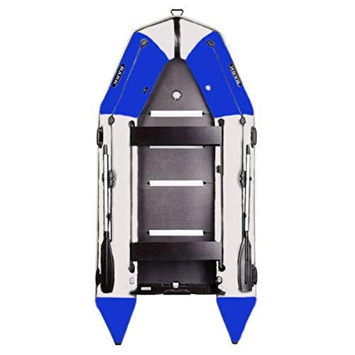BARK Profi Schlauchboot für Motor Luftkiel u. Festenboden BT-360S (3,6m) Schwerlastbetrieb Paddelboot Angelboot Freizeitboot Überdruckventil Schiebesitz Ankerrolle Profi (3.6m BT-360S, Blau-Hellgrau)