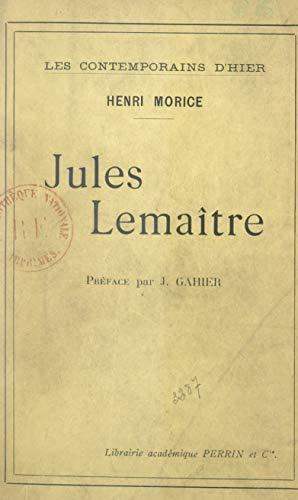 Jules Lemaître (French Edition)