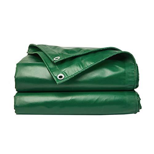Patios Protección UV Lluvia Verde de Tela Impermeable Espesado Lluvia de Tela de Tela de la sombrilla de protección Solar Techo del Coche Cubierta de la Lluvia Remolque Que acampa (Size : 5m×4m)