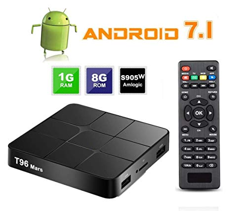 DOOK Android TV Box 1G+8G Android 7.1 Smart TV Box mit Quad core S905W Cortex A53 unterstützt 4K HD/100M LAN/WiFi 2.4G/2 USB/H.265 Android Box