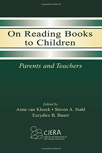 Compare Textbook Prices for On Reading Books to Children: Parents and Teachers 1 Edition ISBN 9780805839692 by van Kleeck, Anne,Stahl, Steven A.,Bauer, Eurydice B.