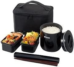 タイガー 魔法瓶 保温 弁当箱 ステンレス ランチ ジャー 茶碗 約 2.3 杯分 ポーチ付き ブラック LWY-E046-K Tiger