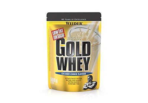 Weider Gold Whey Protein Kokosnuss-Cookie, Low Carb, Eiweißpulver für Fitness und Bodybuilding, 500g