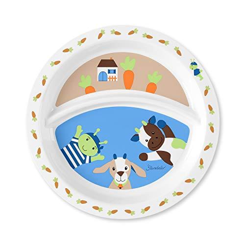 Sterntaler Assiette Bébé, Wieslinge, Âge: Pour les bébés à partir de 6 mois, Multicouleur
