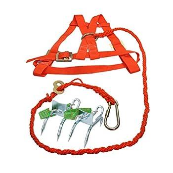 Arbres d'escalade Artefact - Crampons d'arbre d'escalade Portables, Crampons Portables pour l'observation de la Chasse, Cueillette de Fruits, Noix de Coco, Simple à Utiliser,B+Belt