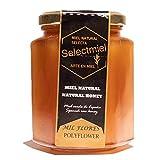 Miel natural de Mil Flores producida en España. Tarro de 450g de Miel Pura sin aditivos. Miel de la Sierra de Salamanca y de otros espacios naturales del oeste peninsular. Selectmiel