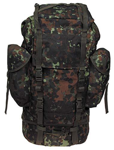 MFH Großer Kampfrucksack der Deutschen Bundeswehr 65 Liter Wanderrucksack Trekkingrucksack verschiedene Farben (Flecktarn)