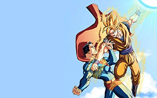 RFG REMOVE FROM GAME Superman Vs Goku Playmat 24 x 14 inch