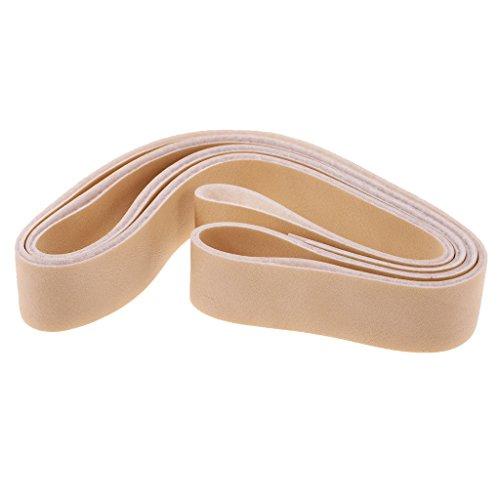 Sharplace 10 Metro Tiras de Cuero para Artesanías de Costura Cinturón de Cuero Hombre Accesorios DIY - Beige