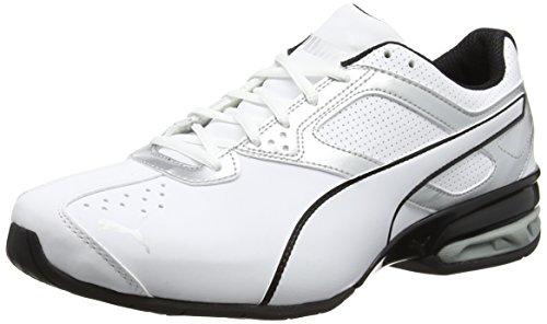 Puma Herren Tazon 6 FM Laufschuhe, Weiß white silver black 01, 44.5 EU