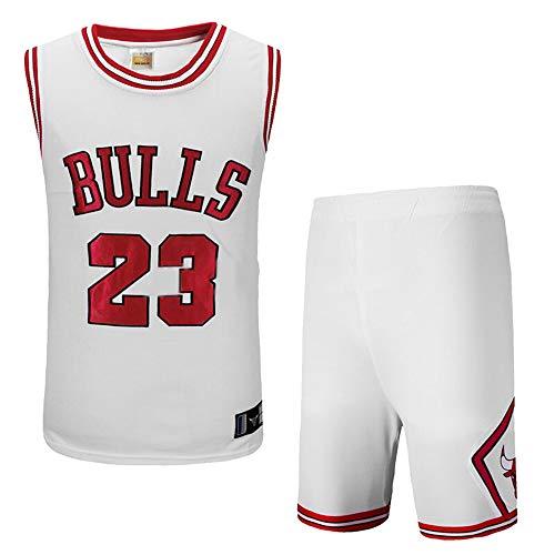 Herren Basketball-Anzug NBA Bulls Michael Jordan No 23 Trikot Retro Embroidered Jersey Sport Swingman Basketball Uniform Männer Fans Tops und Shorts (S - 3XL)