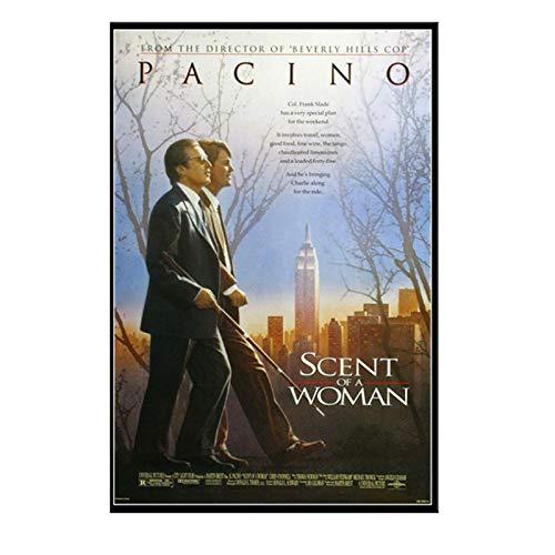 PDFKE Perfume de una Mujer Al Pacino película clásica Lienzo Lienzo Cuadro de Pared para la decoración de la habitación del hogar -50x70 cm sin Marco 1 Uds