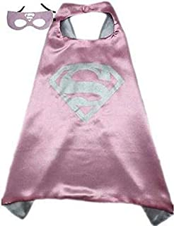 Kids or adults mini funny supergirl from superman comic superhero costume with mask and cape