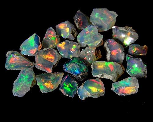 emartwala 200Cts 100% AA+ Natural Ethiopian Welo Opal Rough Stone Lot, Raw Crystal, October Birthstone, Jewelry Making Gemstone, Ultra Fire Striking Opal, Opal Rock, Handpicked Stone