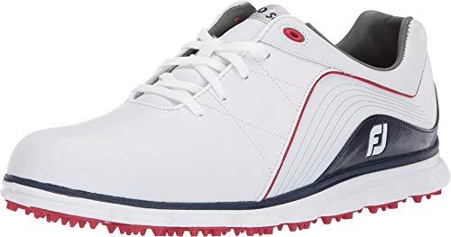 Footjoy Herren Pro Sl Golfschuhe, Weiß (Blanco/Azul Navy/Rojo 53269m), 44.5 EU