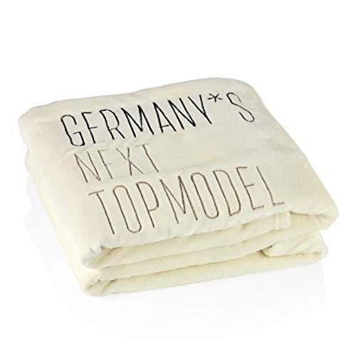 Germany's next Topmodel Kuscheldecke | Der extra Kuschelfaktor für Topmodels | Super flauschig, ideal für Sofa und Bett | Mit